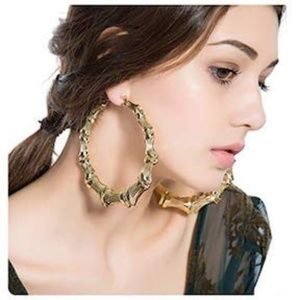 Jewelry - Large Gold Bamboo Earrings